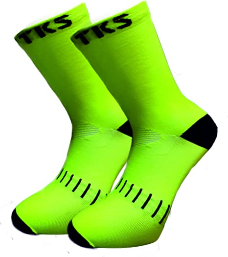 2 PARES PACK- CALCETINES COMPRESION TKS VACCEO CICLISMO, RUNNING Y ...