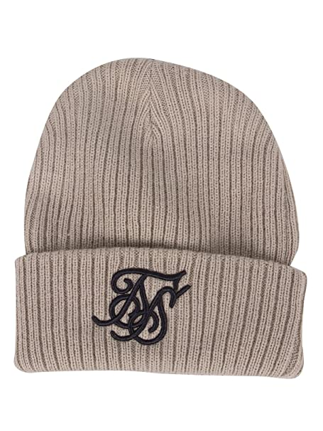 8bfd92a8fcd Sik Silk Men s Ribbed Knit Embroidery Beanie