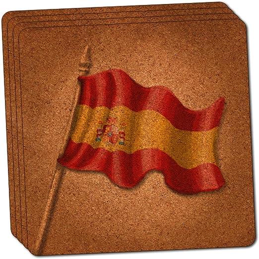 Compra Posavasos de corcho fino, diseño de bandera de España ...