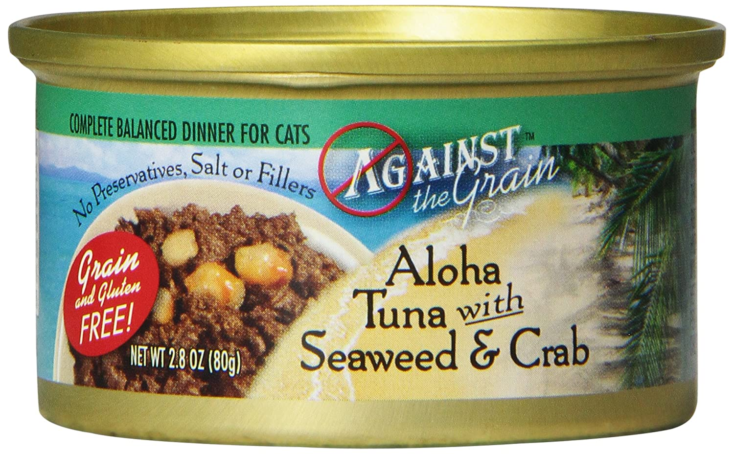 EVANGER'S 776239 24-Pack Atg Aloha Tuna with Seaweed and Crab Food for Cats, 2.8-Ounce