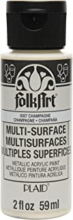 product image for FolkArt Multi-Surface Metallic Paint in Assorted Colors (2 oz), Metallic Champagne