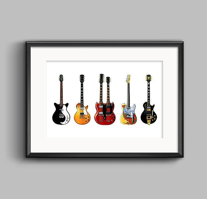 George Morgan Illustration Guitarras de Jimmy Page - IMPRESIÓN DE ...