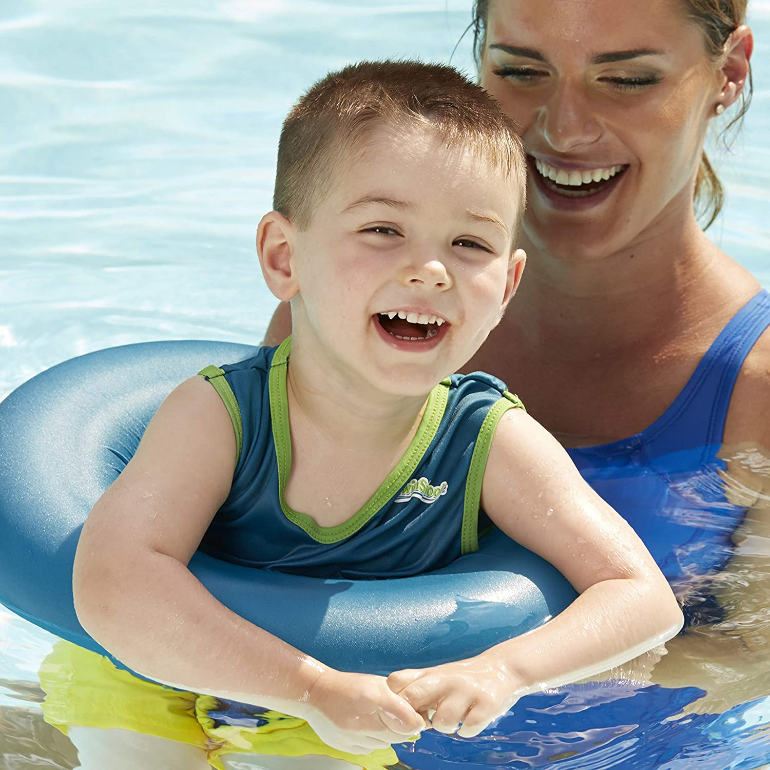 303a68dc931 Amazon.com  SwimSchool Deluxe TOT Swim Trainer Vest and Inflatable Tube  with Adjustable Safety Strap