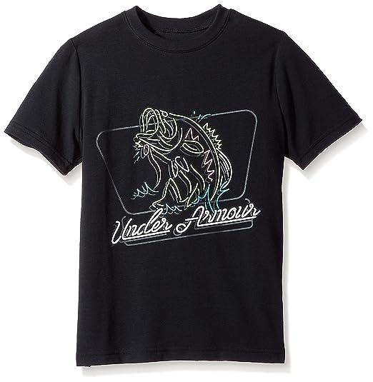 21766d3218 Under Armour Outerwear Boys Neon Bass T-Shirt, Black (001)/Anthracite