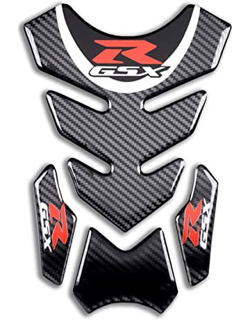 Revso Star Carbon Look Motorcycle Sticker, Vinyl Decal Emblem Protection Gas Tank protector, Tank