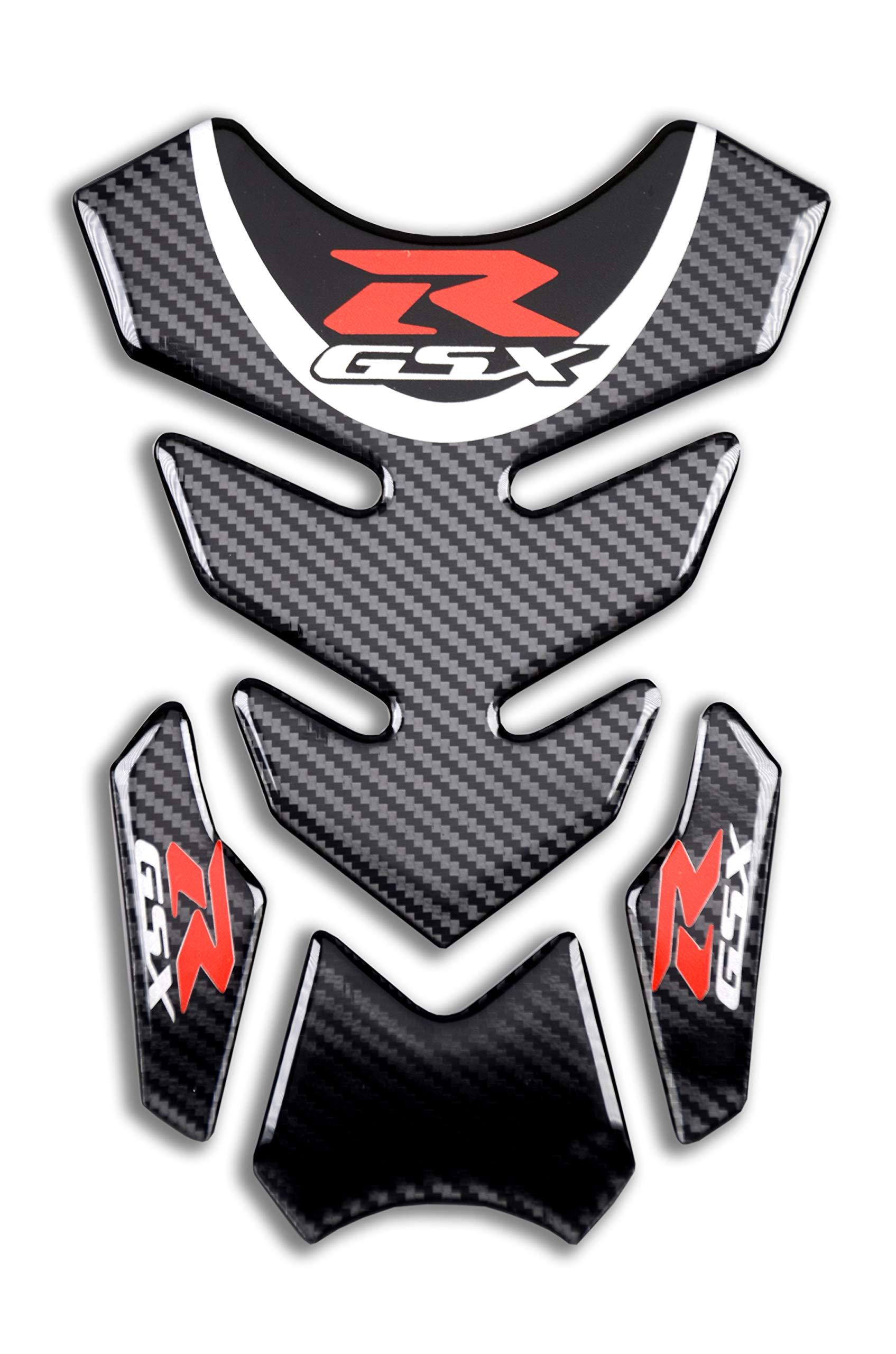 D-Power Real Carbon look Motorcycle Sticker Vinyl Decal Emblem Protection Gas Tank protector GSXR Tank pad For SUZUKI Gixxer GSXR 600 750 2006-2016 / GSXR1000 2007-2008 GSXR1300 Hayabusa 2008-2016