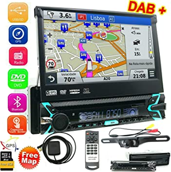 FOIIOE Radio estéreo universal para coche con 1 DIN estéreo con 8 ...
