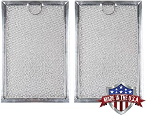 WB06X10309, WB06X10654 Microwave oven Grease Filter Replacement For Many GE Stove WB06X10359, 5230W1A012B - 7-5/8 x 5-1/8 x 1/8 Inch (Made in USA) (2-Pack)