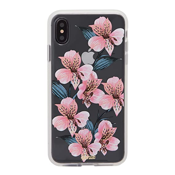 Sonix Tiger Lily Case for iPhone Xs Max [Military Drop Test Certified] Womens Protective Clear Pink Floral Case for Apple iPhone Xs Max