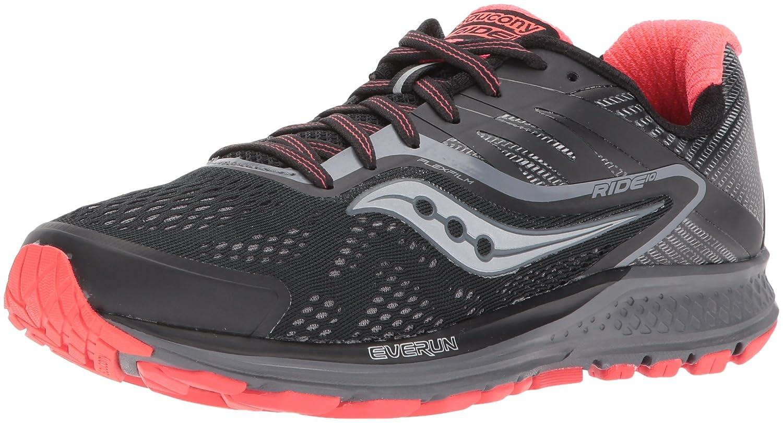 Saucony Women's Ride 10 Running-Shoes B01MS045BM 10 B(M) US|Black Coral