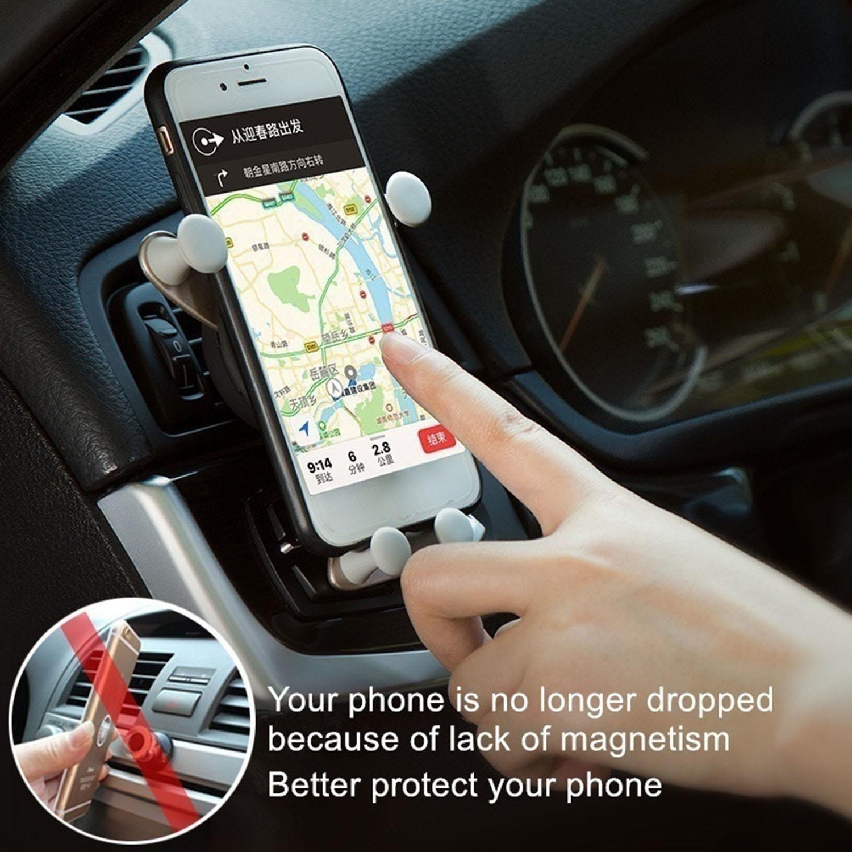 Fantiff Soporte Movil Coche Ventilaci/ón Universal Porta Movil Coche para Rejillas del Aire de Coche para Smartphone