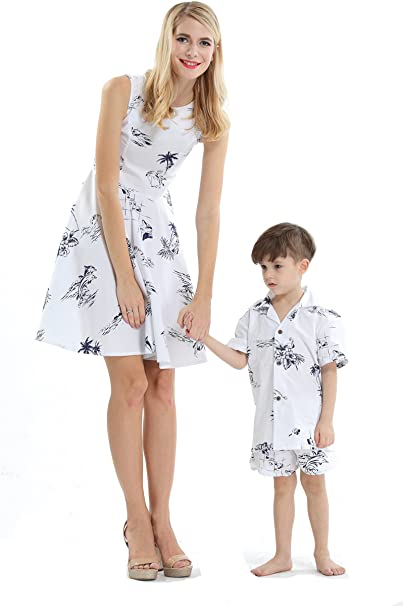 Amazon.com: Vestido de mujer a juego para madre e hijo ...