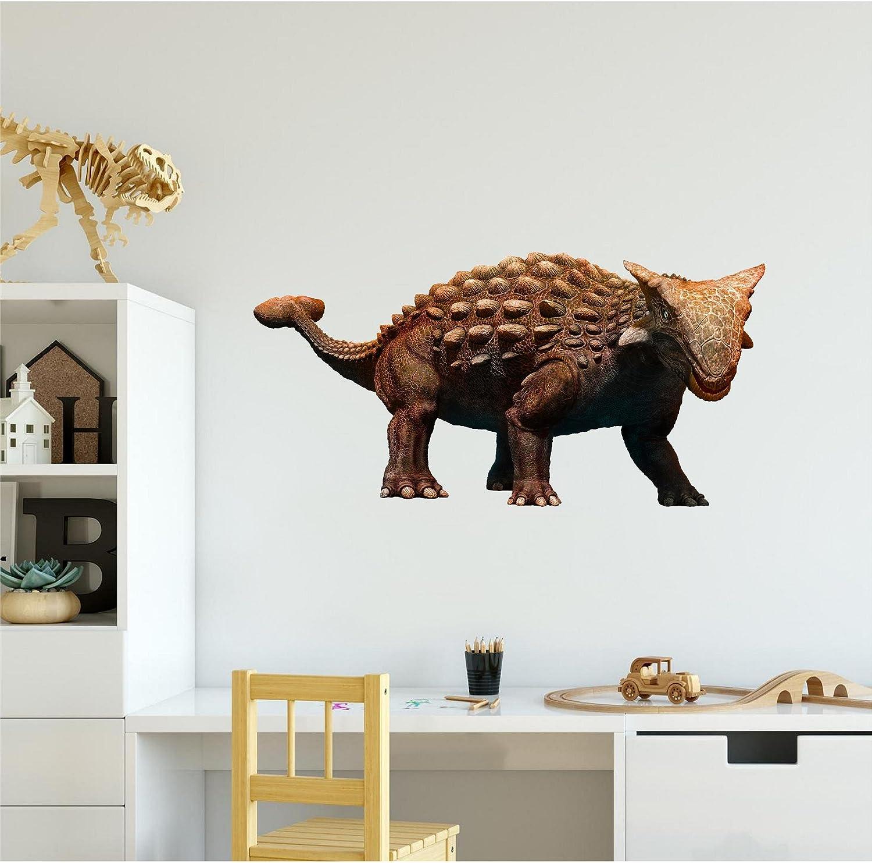 "24"" Ankylosaurus 3D Dinosaur Wall Decal Sticker Jurassic World Mural Kids Bedroom Nursery Decor Self Adhesive Vinyl Wall Art Dino Man Cave Home Decor"