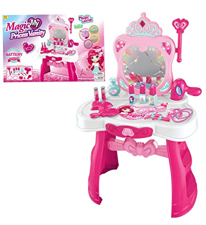 Amazon Com Mozlly Fashion Princess Vanity Table Mirror Makeup Set