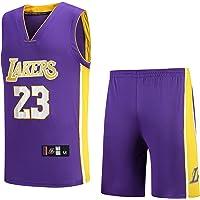 Basport Maillot NBA Lakers N ° 23, Costume Masculin de Basket-Ball James