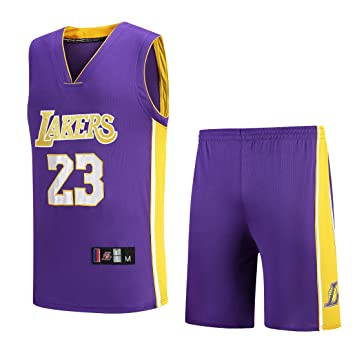 NBA Lakers Jersey No. 23 James Male Basketball Traje de Ropa: Amazon.es: Deportes y aire libre