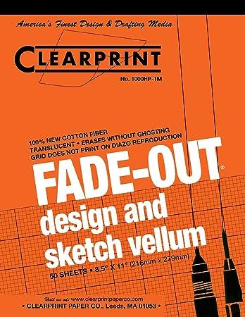 Clearprint Fade Out Design Sketch Vellum Grid 1 Mm 8 12 X 11