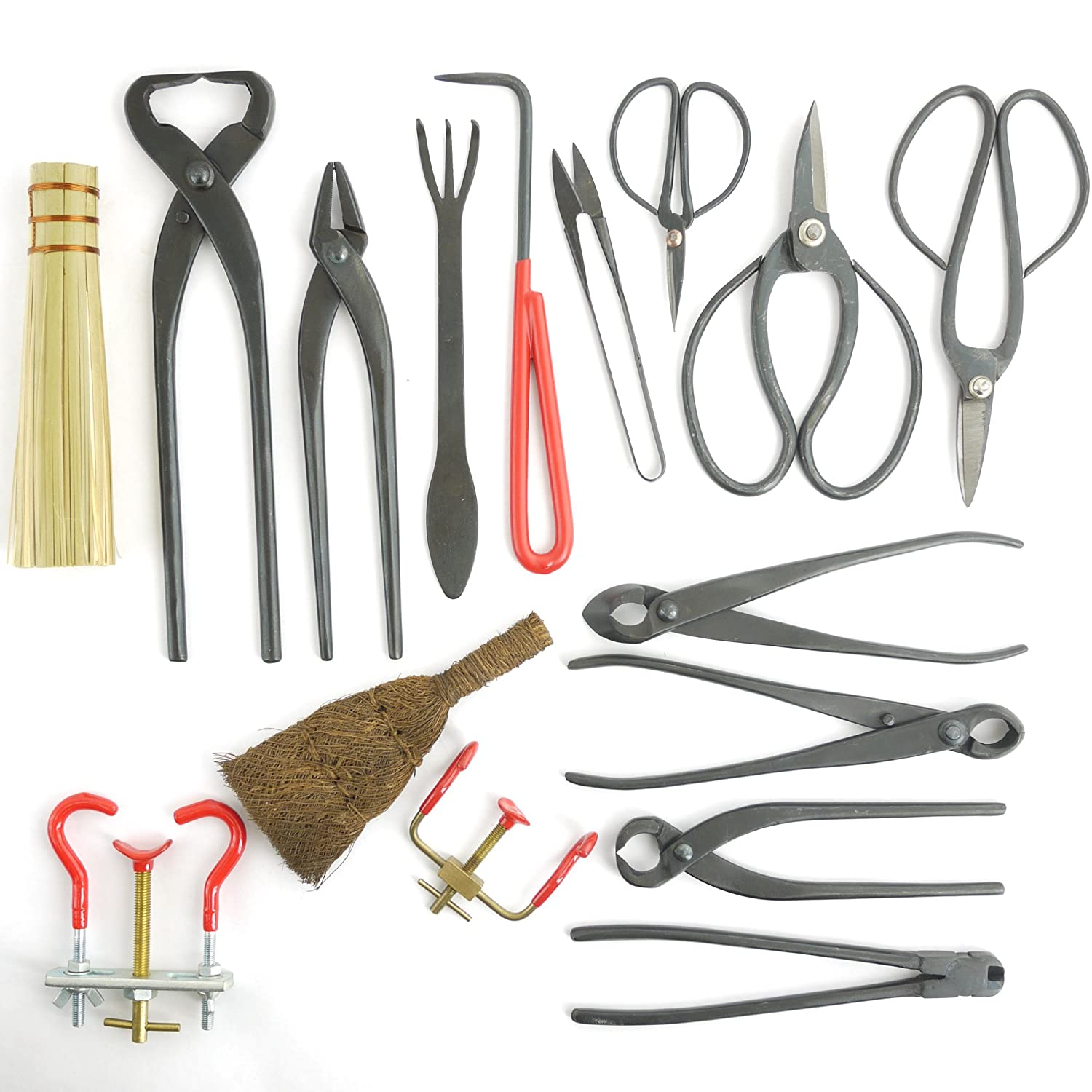 BambooMN Bonsai Kit 16pc Master Tool Set