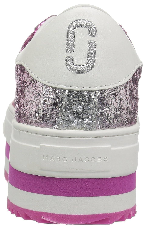 Marc Jacobs Women's Grand Platform Lace up Sneaker B0733FDC22 38 M EU (8 US)|Pink/Multi