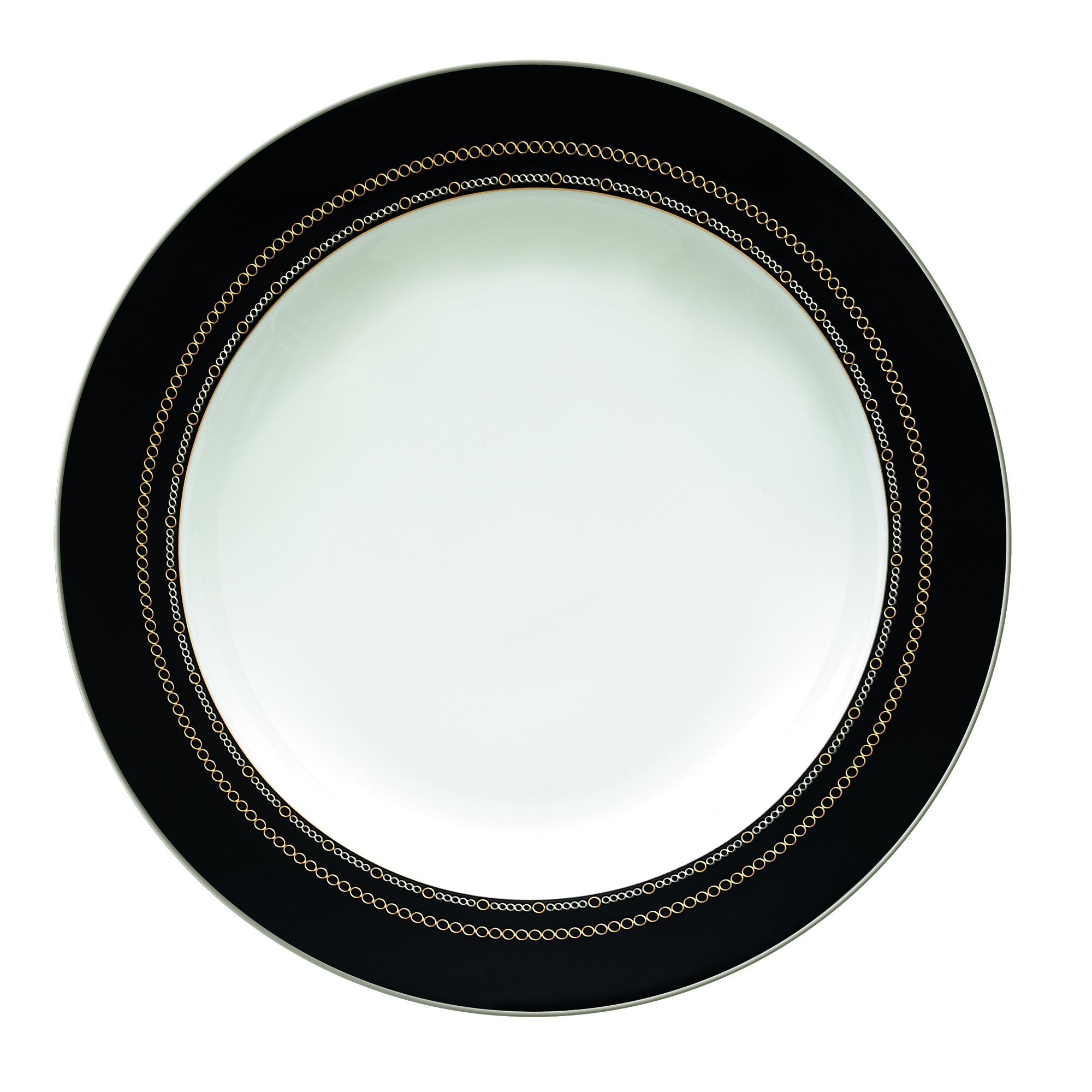 Wedgwood with Love Noir Rim Soup Plate, 9'', White