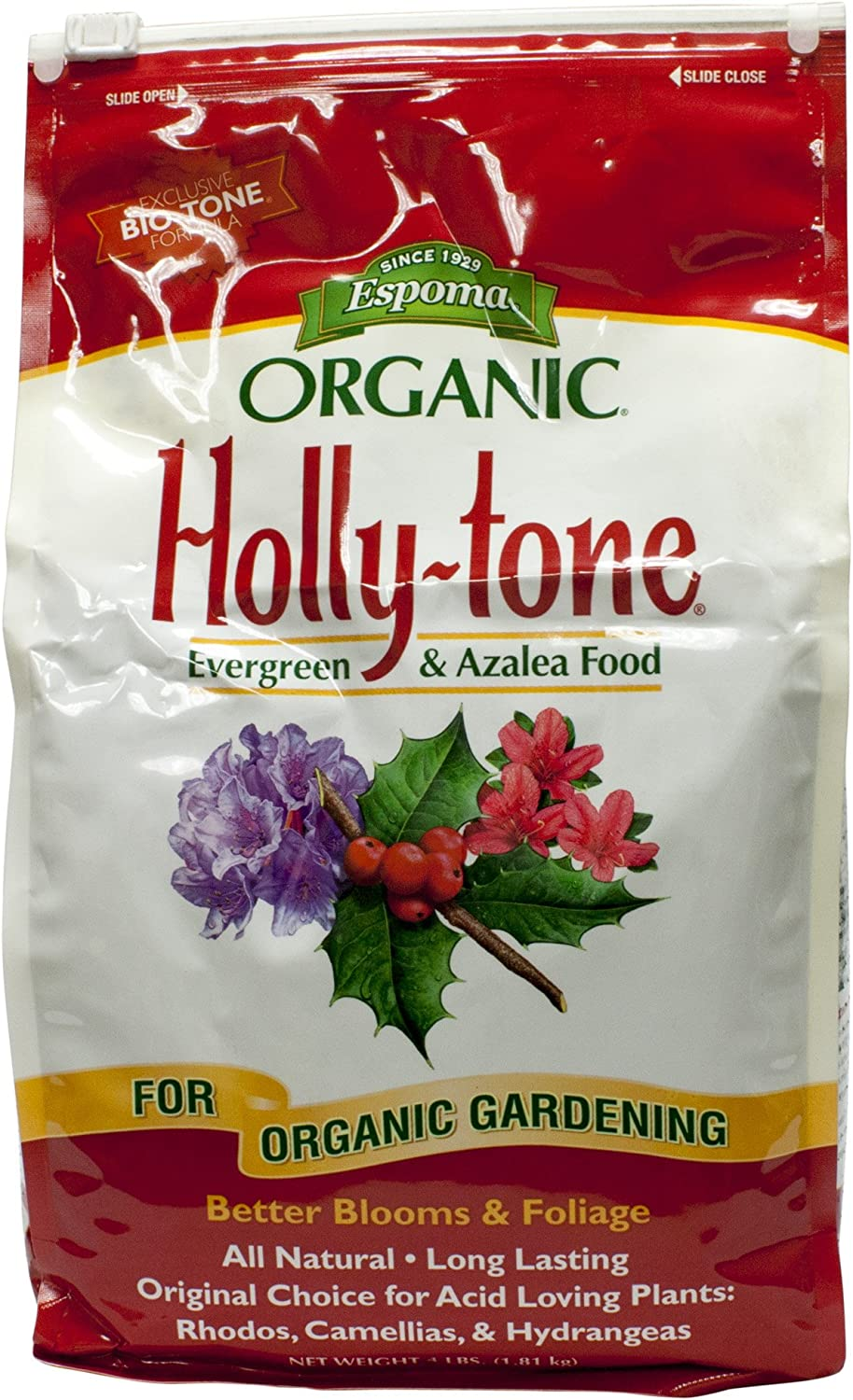 Espoma Organic Holly-Tone Evergreen and Azalea Food, 4LBS