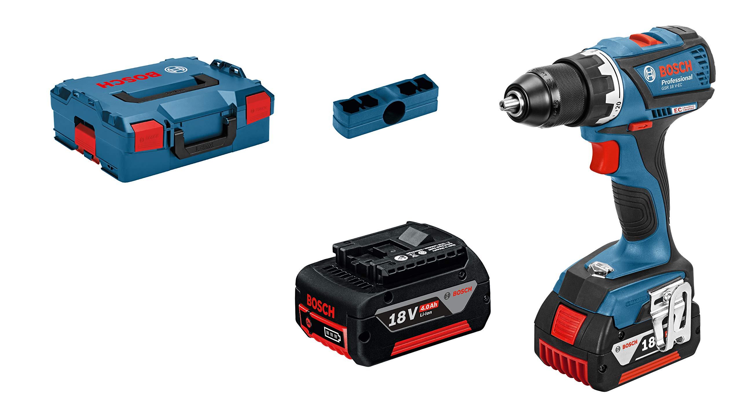 L-Boxx GDR 18-LI Cordless Impact Driver with Two 18 V 2.0 Ah Lithium-Ion Batteries Bosch Professional GSB 18-2-LI Plus Cordless Combi Drill