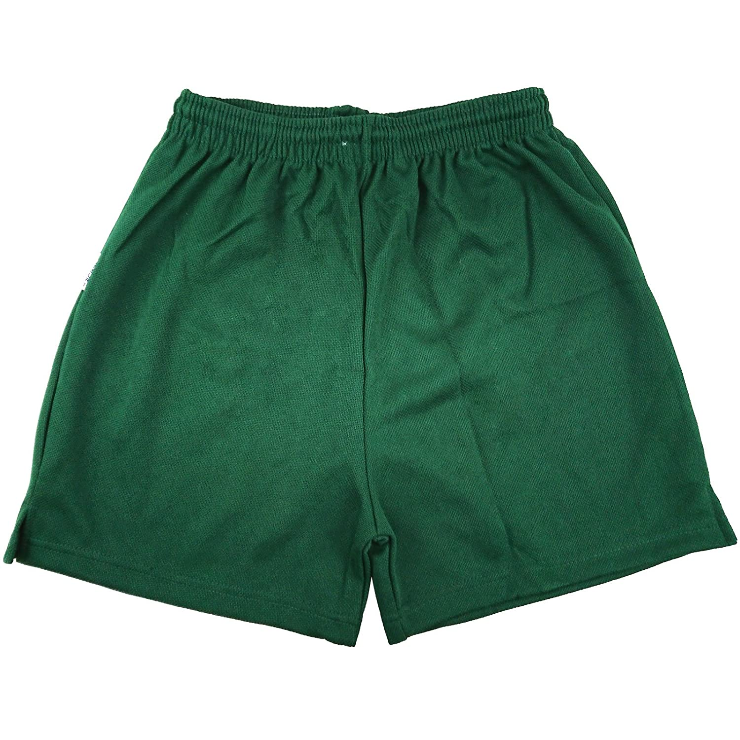 Mens Boys Girls Unisex Mesh Shorts Gym Shorts Sports Football Games PE Shorts School PE Shorts Green