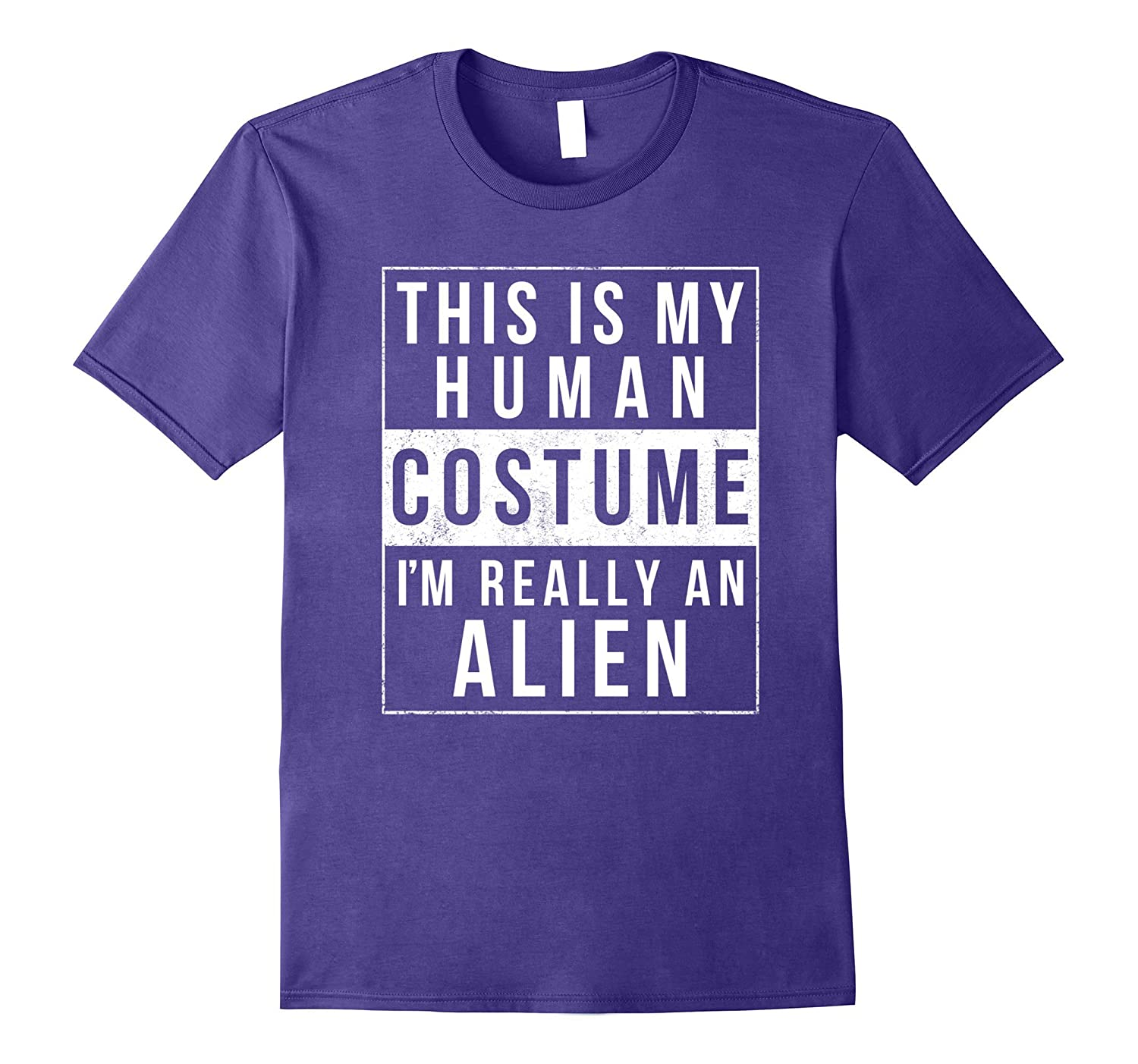 Alien Halloween Costume Shirt Funny Easy for Kids Adults-T-Shirt