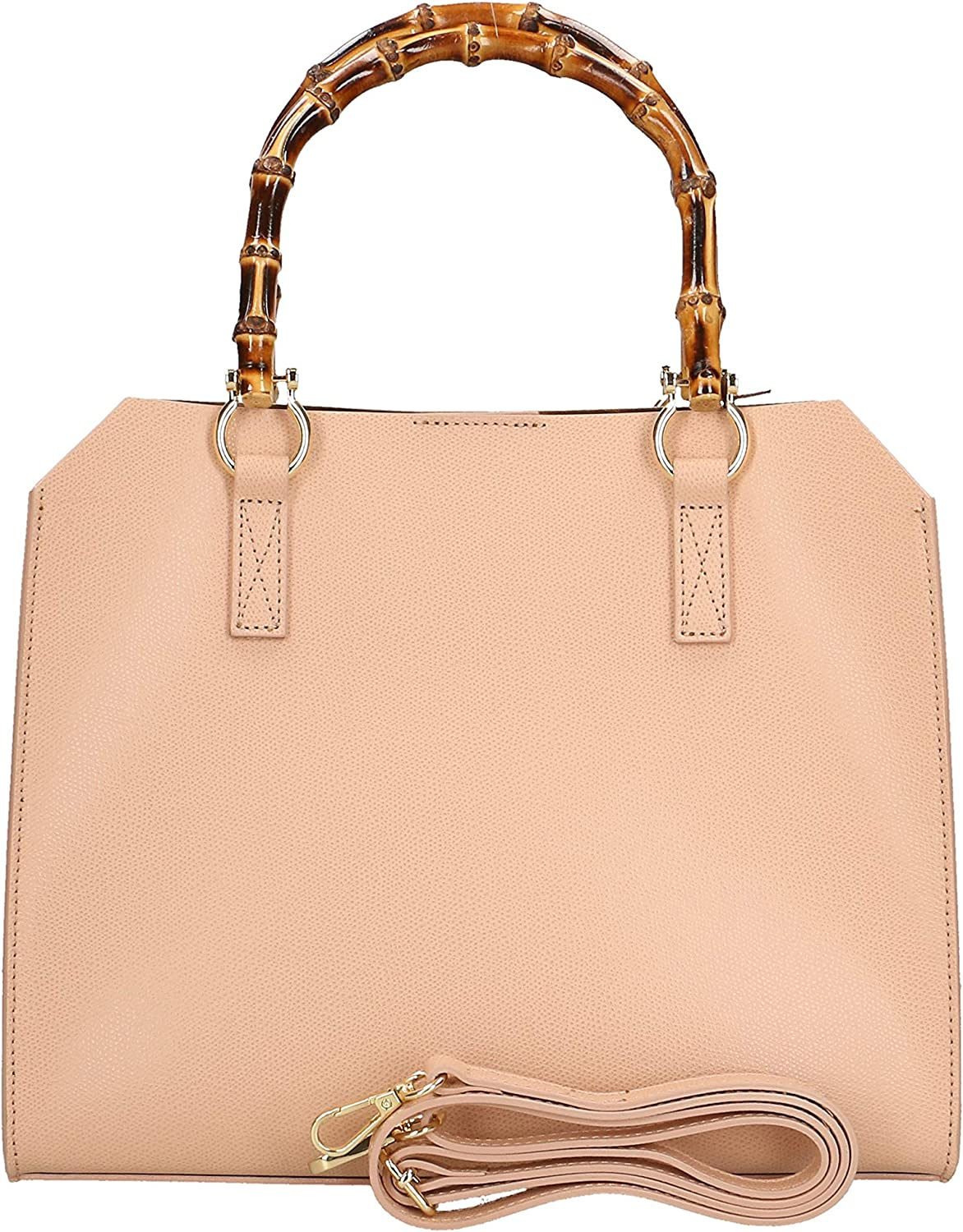 Chicca Borse Handbag in genuine leather made in Italy - 26x32x14 Cm Rose