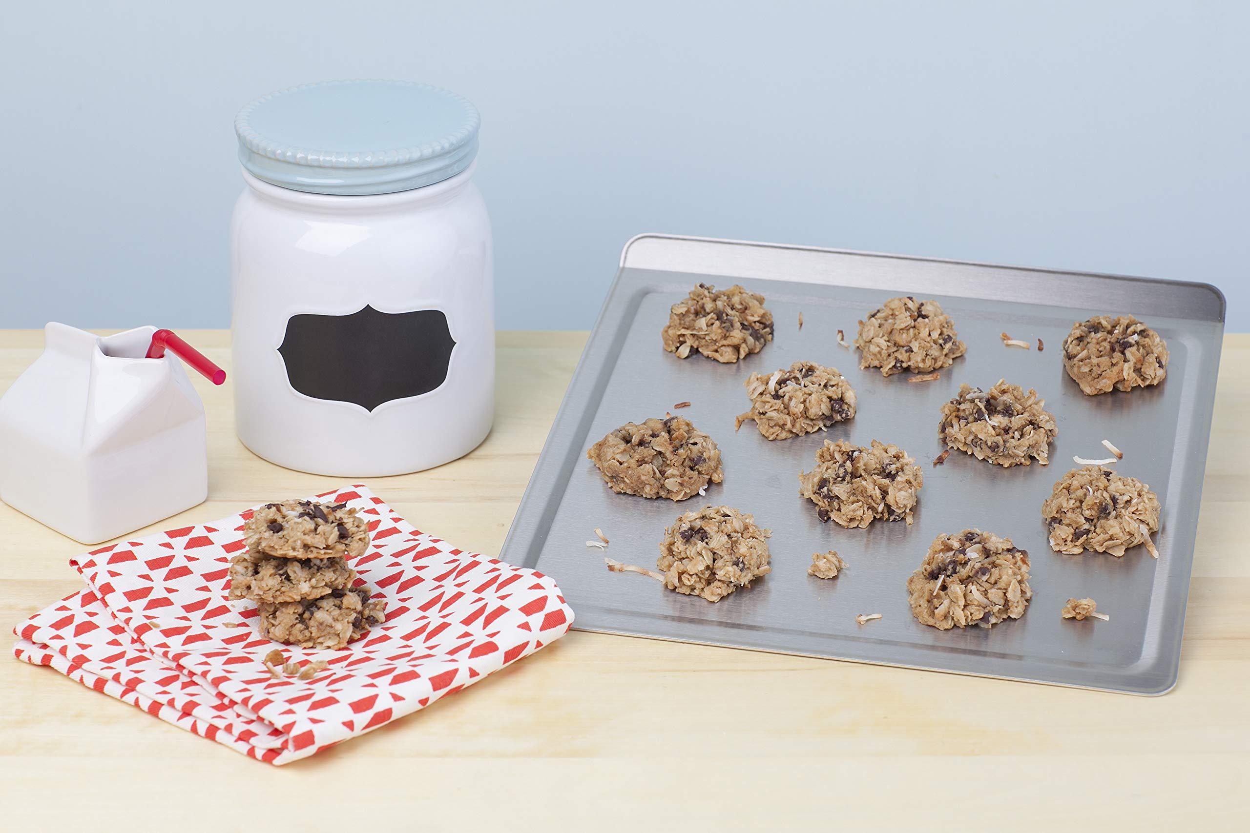 360 Cookware Stainless Steel Bakeware Cookie Baking Sheet, Medium, 12 X 12 Inch