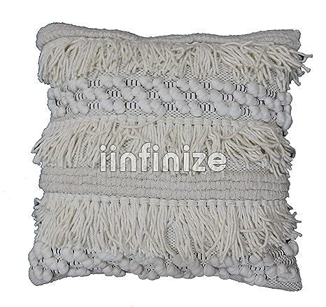 iinfinize - Funda de cojín de algodón Indio de macramé Indio ...