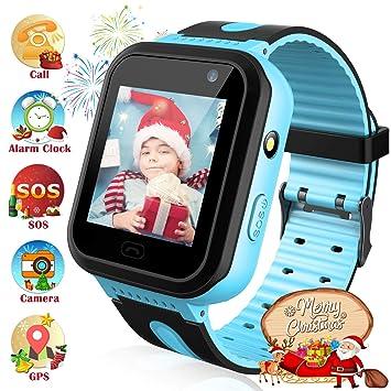Reloj Inteligente Resistente al Agua para niños con rastreador de GPS - Reloj Impermeable Impermeable para Hombres y Mujeres Cámara IP67 Juego móvil ...