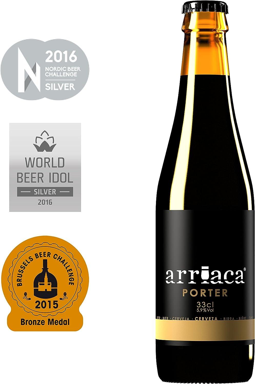 Cerveza Artesanal ARRIACA PORTER (12 botellas x 33cl): Amazon.es ...