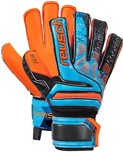 Reusch Soccer Reusch Prisma S1 Fusion Evolution Finger Support Junior LTD Goalkeeper  Glove Orange Blue dfe333008c69