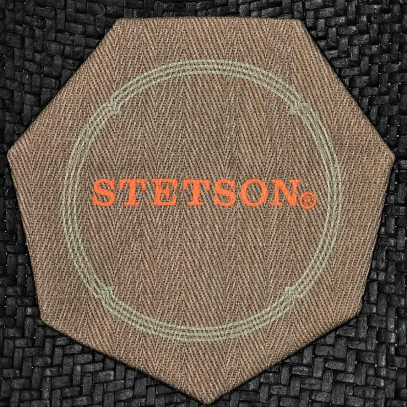 Stetson Cappello di Paglia Martinez Player Uomo da Sole Estivo Cappelli Spiaggia con Nastro in Grosgrain Primavera//Estate