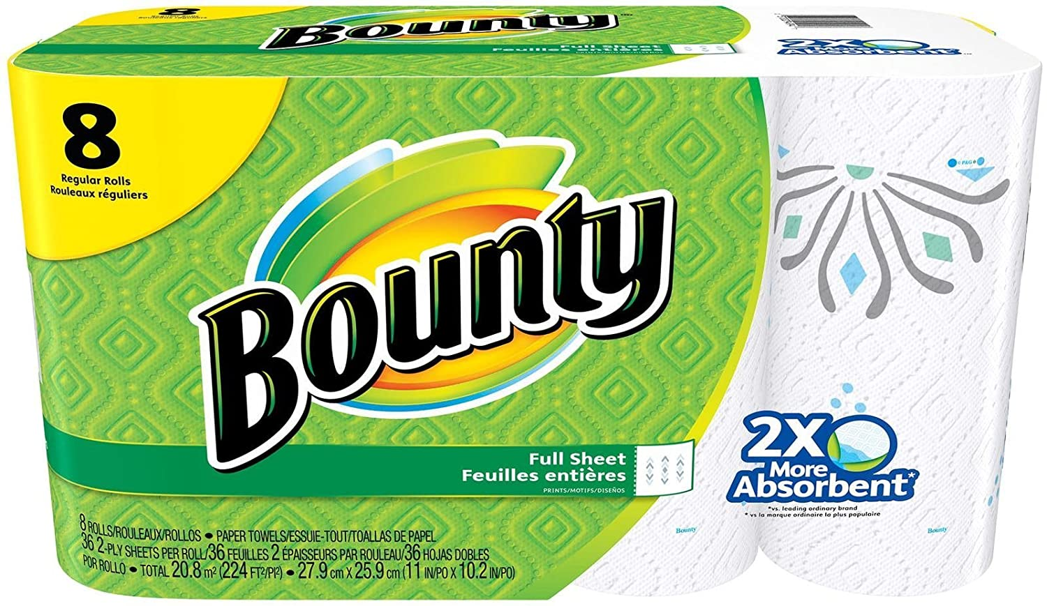 Amazon.com: Bounty Paper Towels, Prints, Regular Roll - 8 Pack: Health & Personal Care