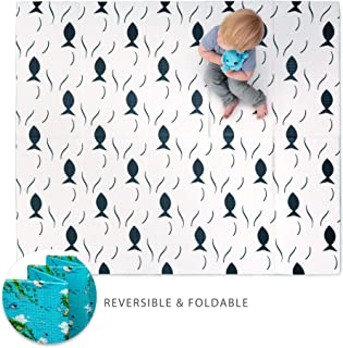 "JumpOff Jo - Little Jo Kids Play Mat - Waterproof Foam Playmat - Perfect Tummy Time Pad for Babies or Gymnastics for Toddlers - Reversible & Foldable - 69"" x 58"""