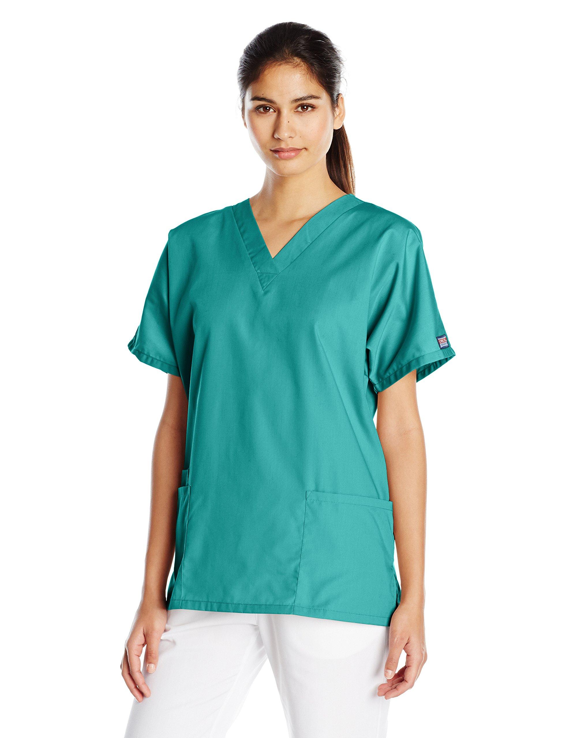 Cherokee Women's V Neck Scrubs Shirt, Surgical Green, Medium by Cherokee