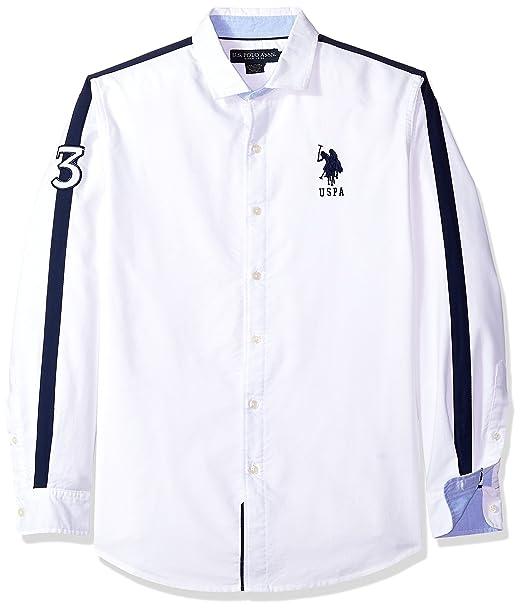 Assn U Polo Manga Larga Camisa Camisa Larga Para s De Ajuste Hombre nEExafF in 1f1260