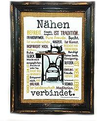 AnneSvea Nähen verbindet. Druck Poster Nähmaschine Sewing Handmade Deko für den Nähkurs Raum, Stoffgeschäft und Nähplatz