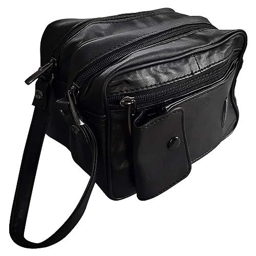 Bolso de mano para hombre Lorenz en cuero blando negro de viaje W12/1962 por Classyshades: Amazon.es: Zapatos y complementos