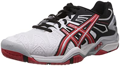 Image Unavailable. Image not available for. Colour  ASICS Men s Gel  Resolution 5 White 96917ae2330