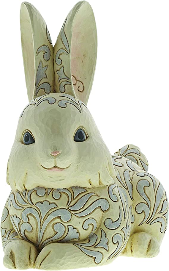 Large Hand Painted Recycled Light Bulb Bunny Figurine HC057-G  Yvette