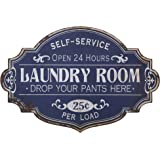 "20""L X 13.25""H Metal Laundry Room Wall Decor"
