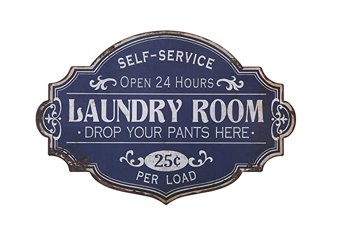 Creative Co-op DA5716 Metal Laundry Room Sign