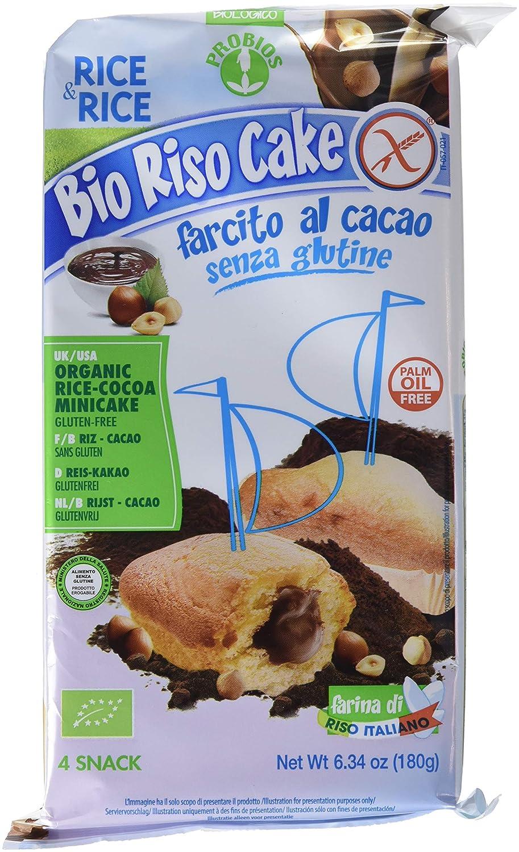 Probios Rice&Rice Riso Cake Al Cacao - Paquete de 12 x 180 gr - Total: 2160 gr: Amazon.es: Alimentación y bebidas