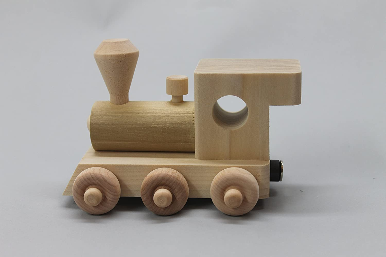 5 letter cars Personalized childs toy wooden train with engine and caboose