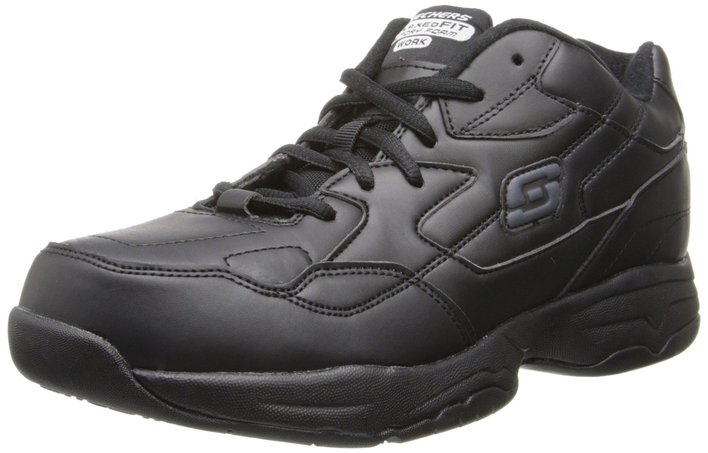 Skechers for Women's Work Albie Walking Shoe, Black, 11 M US