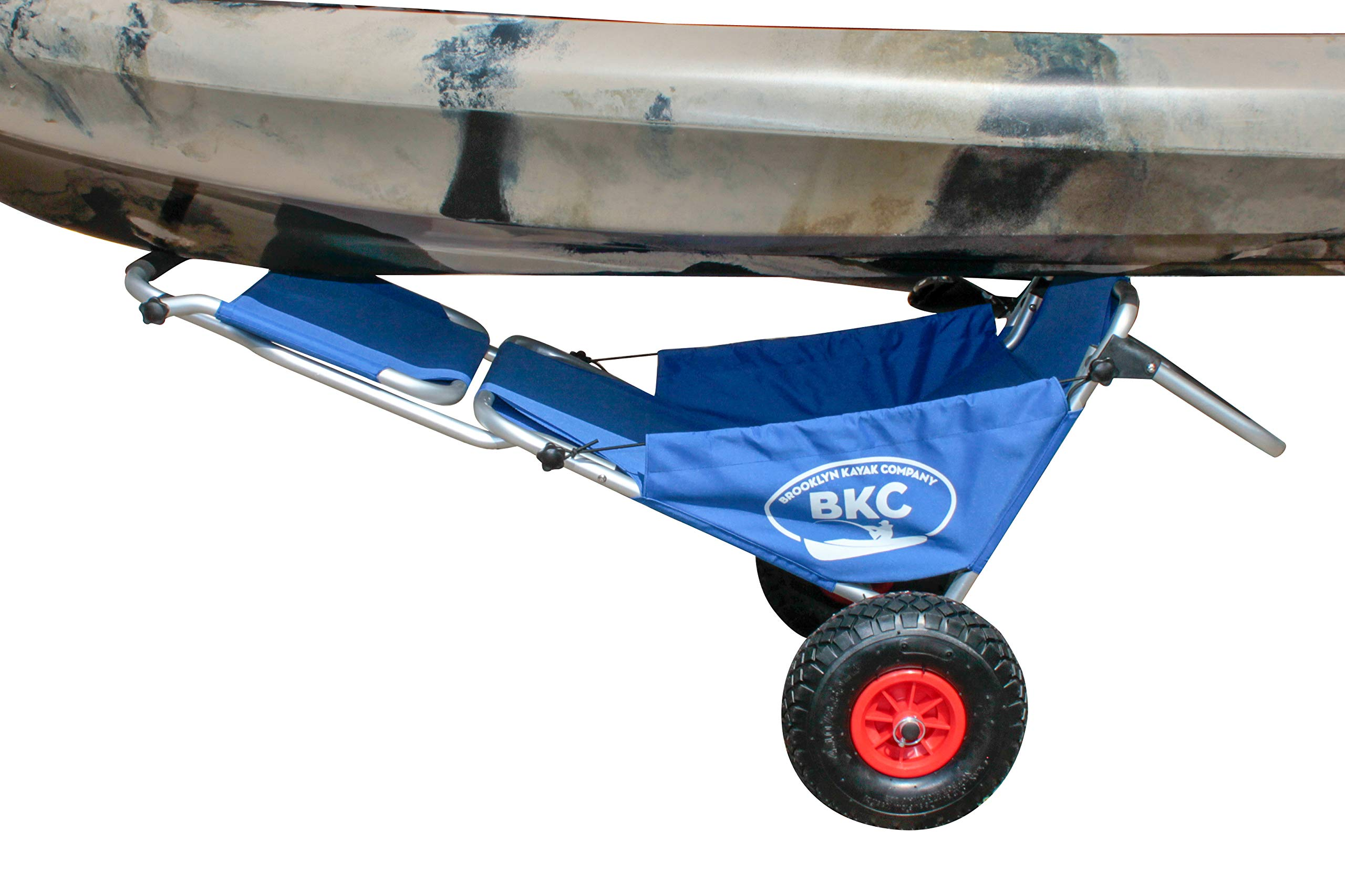 Brooklyn Kayak Company BKC UH-KC274 Rolling Kayak Cart Chair - Folding Wheeled Kayak Cart Chair Combo for Transporting Kayaks, Canoes, SUPs, and Surfboards and for Extra Seating by Brooklyn Kayak Company