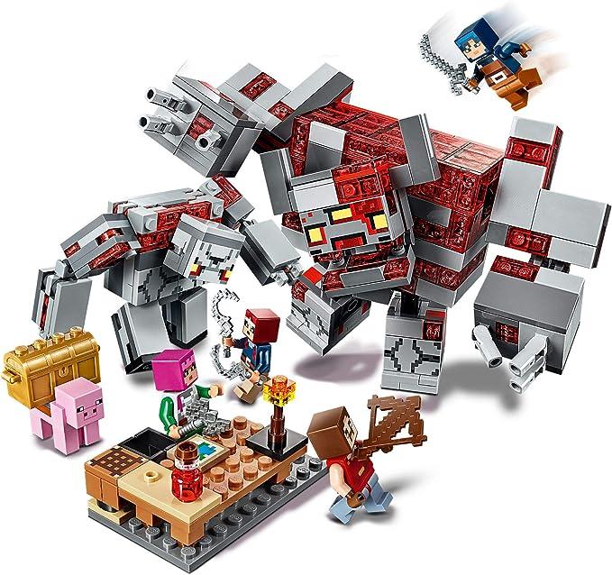 Minecraft Game La Batalla por la Piedra Roja Set de Construcción con Golem y Figuras de Monstruos, Juguete para Niños de 8+ Años de Edad, multicolor (Lego ES 21163): Amazon.es: Juguetes y